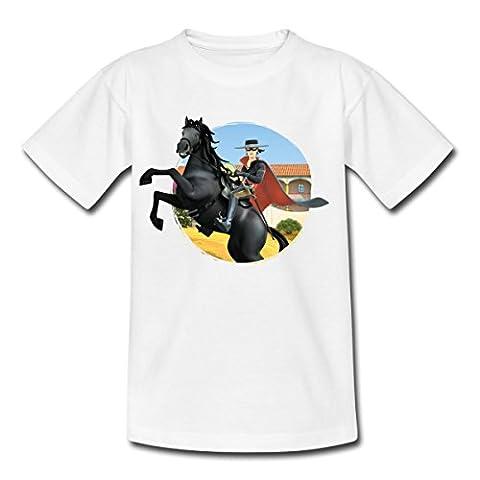 Zorro Les Chroniques Sur Cheval Tornado T-shirt Enfant de Spreadshirt®, 98/104 (3-4 ans), blanc
