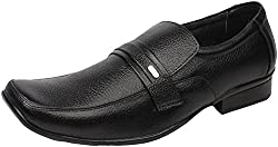 Action Shoes Mens Black Leather Formal Shoes 6 UK