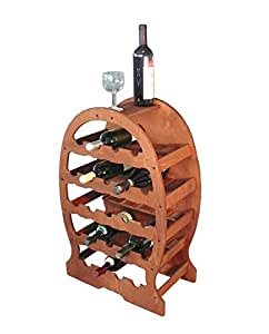 Cantinetta portabottiglie vino a botte in legno 23posti for Cantinetta vino amazon