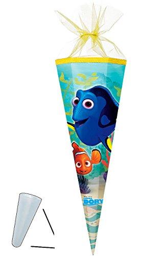 alles-meine.de GmbH Schultüte -  Disney - Findet Nemo - Fisch Dory  - 22 cm - rund - mit Tüllabschluß - Zuckertüte - Nestler - mit / ohne Kunststoff Spitze - für Jungen & Mädch.. -