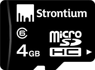 Strontium 4GB Micro SDHC Class-6 Memory Card