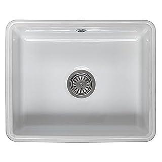 Reginox Mataro 1.0 Bowl White Ceramic Undermount Kitchen Sink & Waste