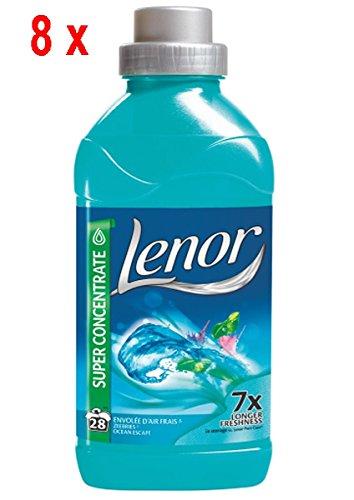 8 x LENOR Weichspüler - Super Konzentrat - Meeresbrise - 711 ml