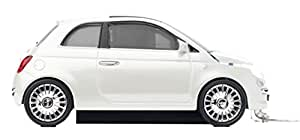 Click Car CCM660349 Fiat 500 Wired Optical Mouse, Pearl White