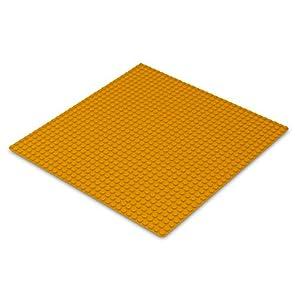 Katara 1672 - Placa de Construcción 25,5x25,5cm / 32x32 Pernos - Compatible con Lego, Sluban, Papimax, Q-Bricks, Naranja