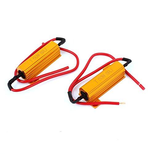 sourcingmap® 2pcs 8 Résistance charge 8 ohms RJ 50W Ampoule LED fixe Clignotant Clignotant Flash