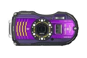 Pentax WG-3 Waterproof Digital Camera - Purple (16MP, 4x Optical Zoom, GPS, Front Screen) 3 inch LCD