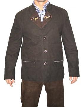 Trachtenjacke trachten lederjacke jacke Janker aus Ziegenleder dunkelbraun