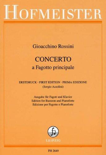 KONZERT - FAG ORCH - arrangiert für Fagott - Klavier [Noten / Sheetmusic] Komponist: ROSSINI GIOACCHINO