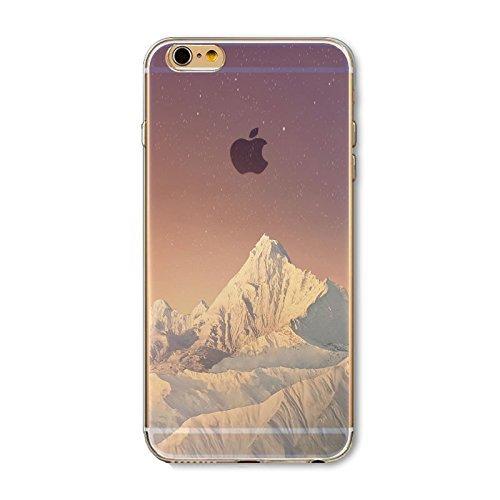 Coque iPhone 7 Housse étui-Case Transparent Liquid Crystal en TPU Silicone Clair,Protection Ultra Mince Premium,Coque Prime pour iPhone 7-Paysage-style 5 10
