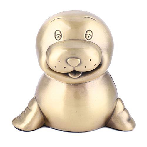Sparschwein Bank Spielzeug Münze Bank dekorative Sparkasse Geld Bank Vintage Legierung Sea Lion Figur für Junge Mädchen -
