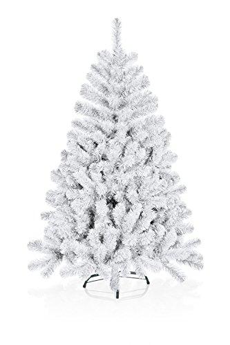 Hiskøl 210 cm ca. 1230 Astspitzen Künstlicher Weihnachtsbaum Tannenbaum Christbaum inklusive Christbaumständer, weiß