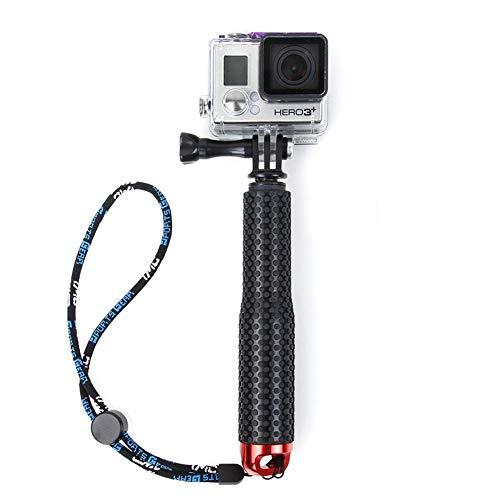 joizo Flotante Impermeable Soporte de la cámara del Mango Extensible Selfie palillo de la aleación de Aluminio Compatible con la cámara Gopro Rojo