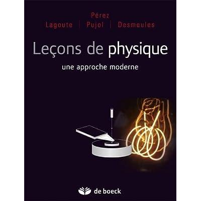 Leçons de physique : une approche moderne