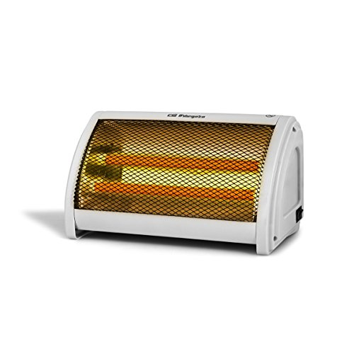 Orbegozo BP3200 Estufa de doble barra cerámica con 2 niveles de potencia 500 W y 1000 W, Color blanco...