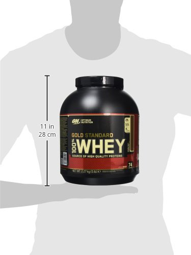 Optimum Nutrition Gold Standard 100% Whey Protein Powder – 2.27 kg, Double Rich Chocolate