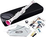 Nuvo Clarinéo Set standard avec clarinette en do et accessoires Blanc/rose