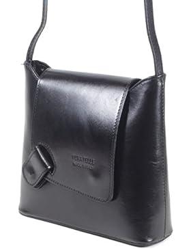 taschenTrend - Calamona MittelFormat Umhängetasche Ausgehtasche Leder Handtaschen Glattleder Abendtasche Crossover...