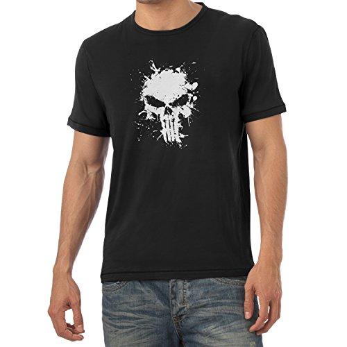 TEXLAB - Punish Splash - Herren T-Shirt, Größe XL, schwarz (Wolverine Kostüm Hoodie)