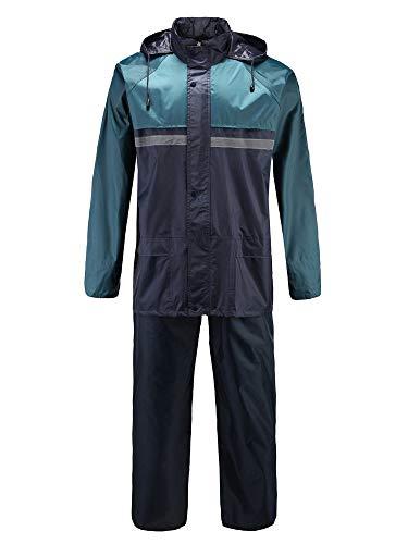 S-D-S Regenponcho Jacke Hose 2 in 1 Regenanzug wasserdichter Arbeitsanzug Regenmantel