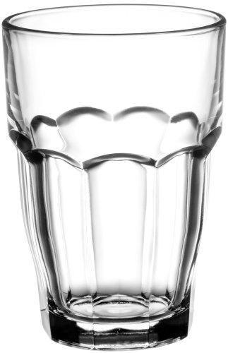 Bormioli Rocco Rock Bar Longdrink 370ml, stapelbar, gehärtetes Glas, 6 Stück
