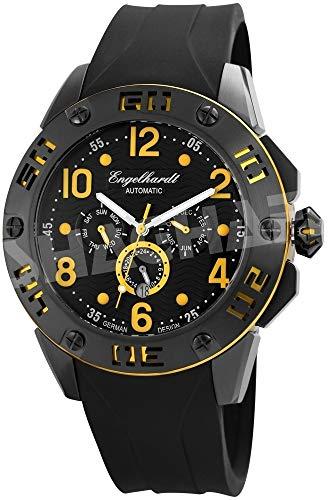Engelhardt Herren Analog Mechanik Uhr mit Silikon Armband 388971229004