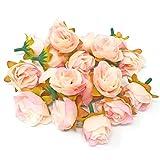 Deko-Light Pink-Rose Bud synthetik Blumen, Kunstseide, Mini, Rosenknospen, Textil, rose, 25-30mm