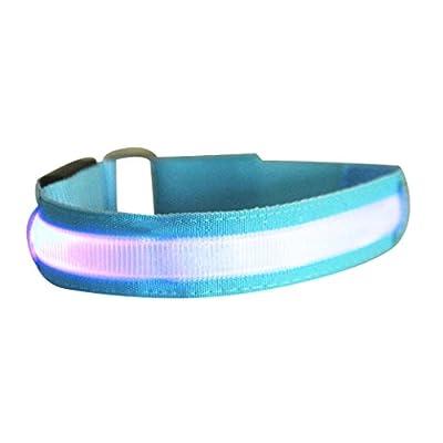 LED Lichter Armbinde, Gusspower Reflective Sport Armbänder Leuchtband Reflektor, Nachtsicherheits Licht für das Laufen Joggen Hundewandern Camping, Austauschbare Batterie Justierbar