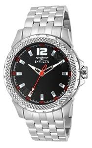 Invicta Invicta Specialty 15201 - Reloj analógico de cuarzo para hombre, correa de acero inoxidable color plateado (agujas luminiscentes) de Invicta