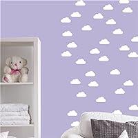 Wandaufkleber DIN A4 Bogen mit 40 mini Wolken Wandtattoo Wandsticker Sticker Wanddeko Kinderzimmer Himmel