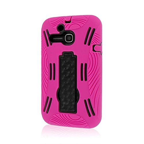 MPERO Impact XL Series Kickstand Case Tasche Hülle for Alcatel ONETOUCH Evolve 5020T - Hot Pink Rosa