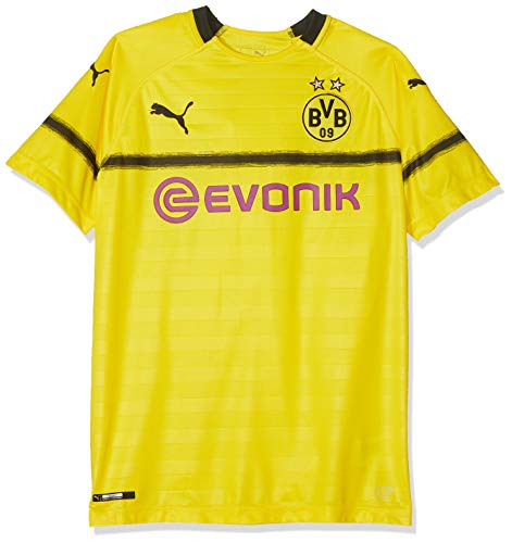 Puma Kinder BVB Cup Shirt Replica Jr with Evonik Without OPEL Logo Trikot, Cyber Yellow, 140 -