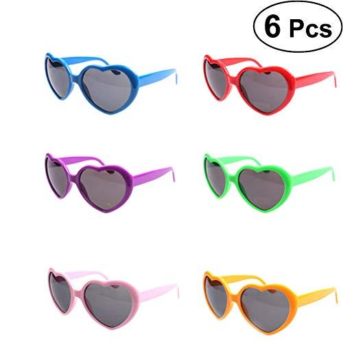 rille Halloween Brillen Spaßbrille Partybrille Sonnenbrillen Lustige Spielzeug für Kinder Geburtstag Party Dekoration 6 Stücke ()