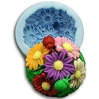 FPP natale palla girasole strumenti di decorazione torta al cioccolato fondente della torta del silicone della muffa, l8.3cm * w8.3cm * h4.2cm