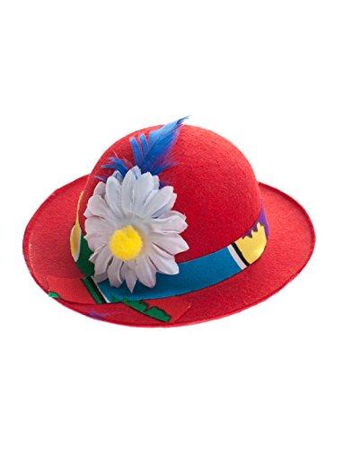 Melone Miniatur mit Blume rot one (Mini Hut Clown Melone)