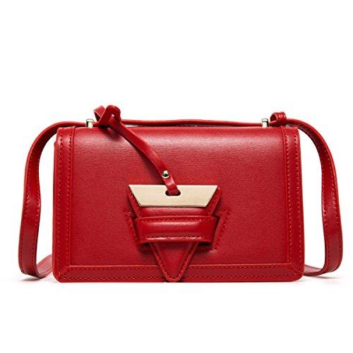 Borsa Quadrata Piccola Borsa Messenger Bag Borsa A Tracolla,Pink Red