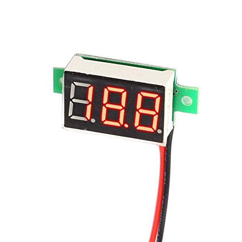 Balai 0.36 inch 2.5-30V LED No Power Supply Needed Mini Digital Voltmeter Car/Motorcycle Battery Volt Tester 200ms/time DC
