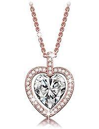 LADY COLOUR - Corazon Tavarua - Collar mujer con cristales de SWAROVSKI® - la coleccion Corazon de Cristal