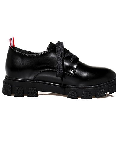 ZQ hug Scarpe Donna-Sneakers alla moda-Casual-Creepers / Punta arrotondata / Chiusa-Plateau-Finta pelle-Nero , black-us8 / eu39 / uk6 / cn39 , black-us8 / eu39 / uk6 / cn39 black-us8 / eu39 / uk6 / cn39