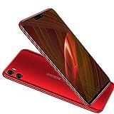 Moviles Libres Baratos 4G, 4GB RAM + 64GB ROM Android 8.1 5.85' FHD Dual SIM Cámara 12MP+5MP Smartphone Libres 4200mAh Bateria moviles baratos y buenos (Rojo)