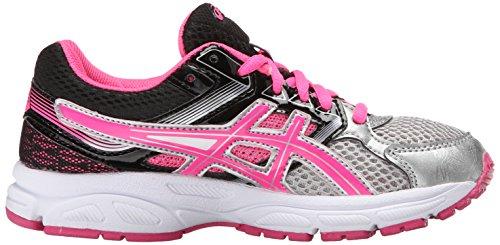 Asics Gel-Contend 3 GS Synthétique Chaussure de Course Silver-Hot Pink-Black