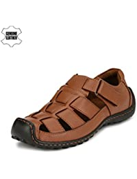 Sir Corbett Men's Brown Genuine Leather Casual Sandals