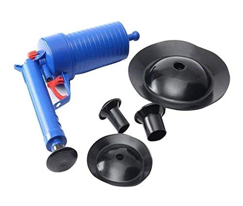 YAKASO Pressluft Rohrreiniger mit 4 Saugnäpfen Luftdruck Ablass Pumpen Rohrreinigungszubehör für Toilette Badewanne Küchenbecken