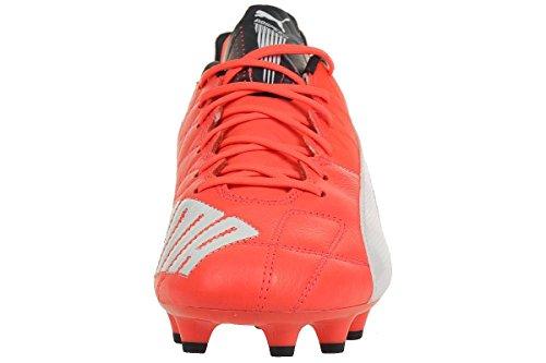 Puma  evoSPEED 1.4 Lth FG, Chaussures de football hommes neonrot / blanc