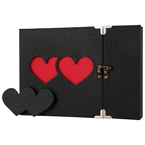Album diy per foto, scrapbook, sticker diario creativo con incisione a forma di cuore, idea regalo,regalo della festa della mamma
