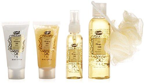 Gloss! NS5 Set del Bagno, Olio di Argan, 5 Pezzi, (Gloss Olio)