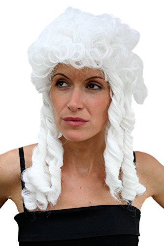Wig me up  - LM-160-P60 Fasching Perücke Barock Baroque Weiß Cosplay