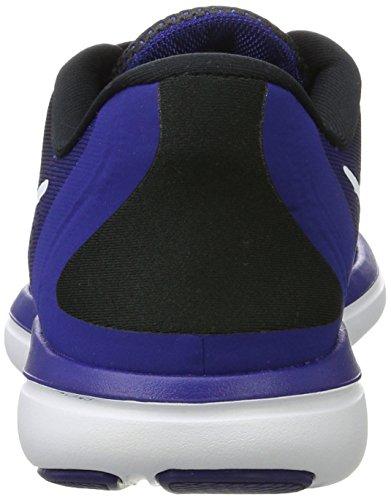 Nike Men's Free Rn Sense Running Shoe, Scarpe Sportive Indoor Uomo Multicolore (Black/white-deep Royal Blue)