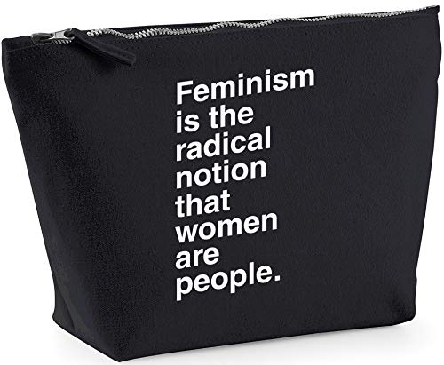Hippowarehouse Feminism is The Radical Notion That Women Are People Bolsa de Lavado cosmética Maquillaje Impreso 18x19x9cm