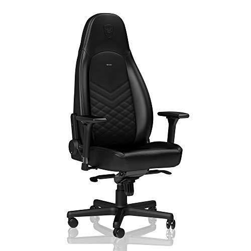 noblechairs Icon Chaise de Jeu - Chaise de Bureau - Cuir synthétique PU - Noir